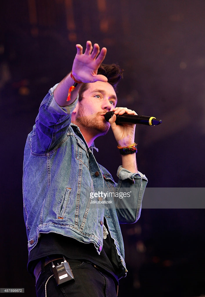 <> live on stage during the first day of the Lollapalooza Berlin music festival at Tempelhof Airport on September 12, 2015 in Berlin, Germany.